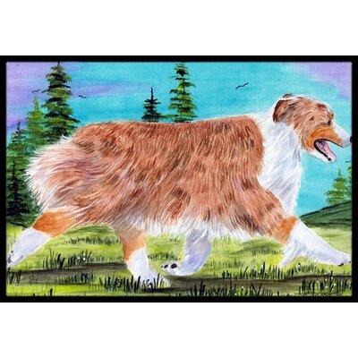 Australian Shepherd Doormat Rug Size: Rectangle 2 x 3