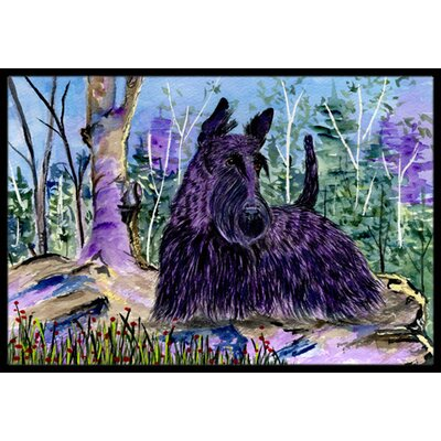 Scottish Terrier Doormat Mat Size: Rectangle 16 x 2 3