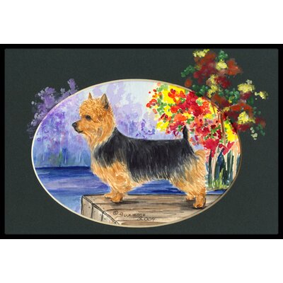 Australian Terrier Doormat Mat Size: Rectangle 2 x 3