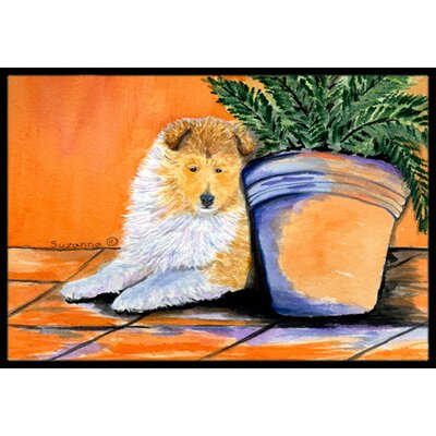 Sheltie Doormat Mat Size: Rectangle 2 x 3