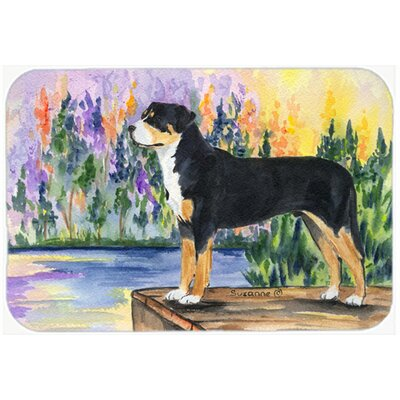 Greater Swiss Mountain Dog Kitchen/Bath Mat Size: 24 H x 36 W x 0.25 D