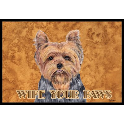 Yorkie Doormat Rug Size: Rectangle 1'6