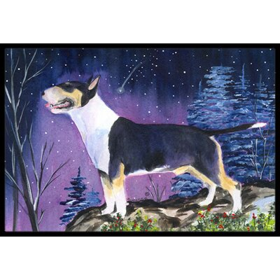 Bull Terrier Doormat Mat Size: Rectangle 16 x 2 3