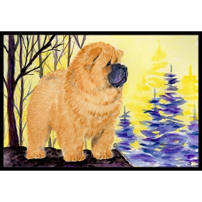 Chow Chow Doormat Mat Size: Rectangle 2 x 3