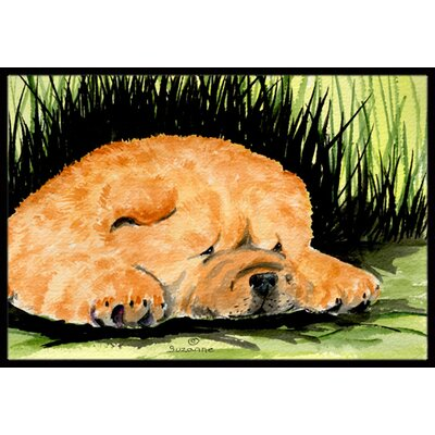 Dog Rectangle Doormat Rug Size: 16 x 2 3