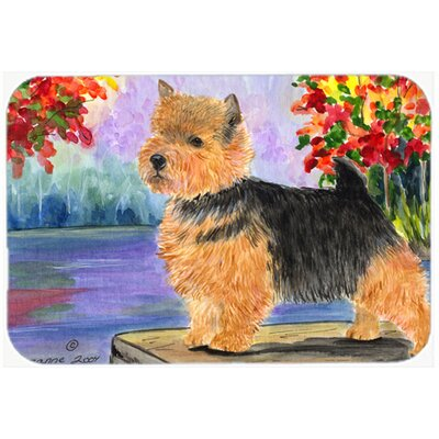 Norwich Terrier Kitchen/Bath Mat Size: 24 H x 36 W x 0.25 D