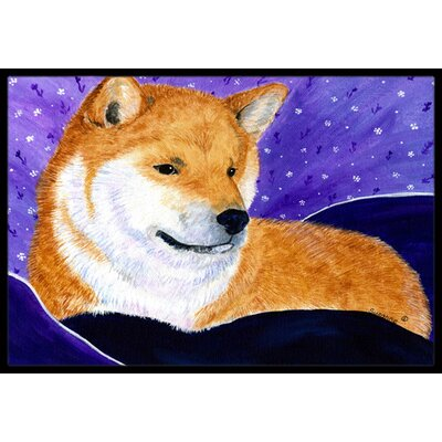 Shiba Inu Doormat Mat Size: Rectangle 16 x 2 3