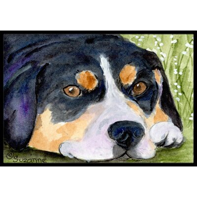 Entlebucher Mountain Dog Doormat Mat Size: Rectangle 2 x 3