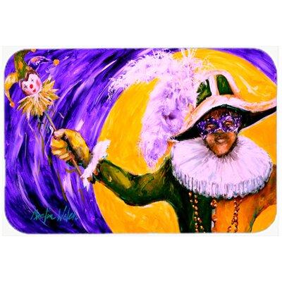 Mardi Gras Hey Mister Kitchen/Bath Mat Size: 24 H x 36 W x 0.25 D