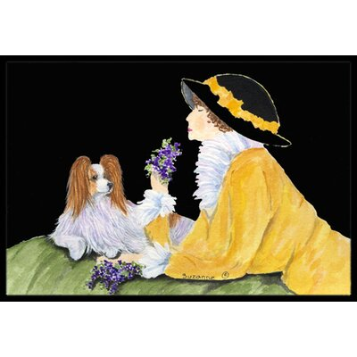 Papillon Doormat Rug Size: Rectangle 16 x 2 3