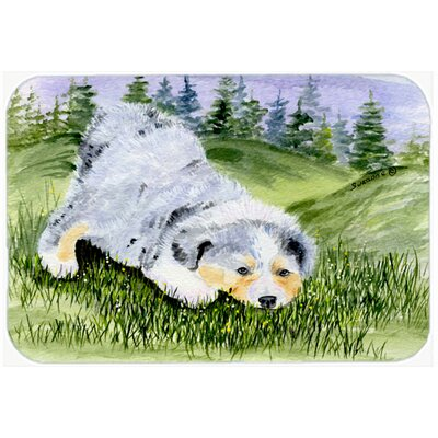 Australian Shepherd Kitchen/Bath Mat Size: 20