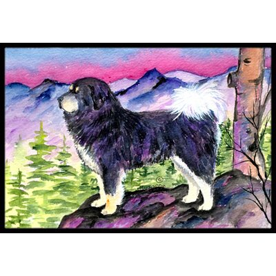 Standing Tibetan Mastiff Doormat Rug Size: Rectangle 2 x 3