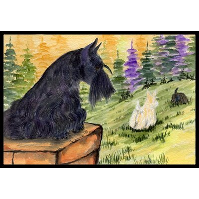 Scottish Terrier Doormat Mat Size: Rectangle 2 x 3