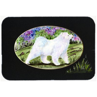 Samoyed Kitchen/Bath Mat Size: 24 H x 36 W x 0.25 D