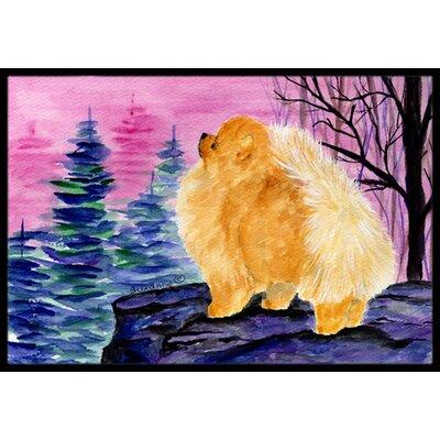 Pomeranian Doormat Rug Size: 2 x 3