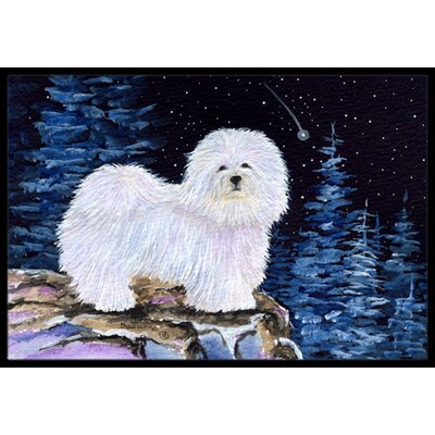 Starry Night Coton De Tulear Doormat Rug Size: 16 x 2 3