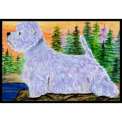 Westie Doormat Rug Size: Rectangle 16 x 2 3