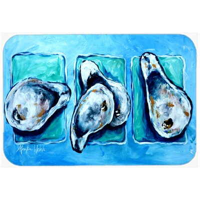 Oyesters Oyster + Oyster = Oyesters Kitchen/Bath Mat Size: 24 H x 36 W x 0.25 D