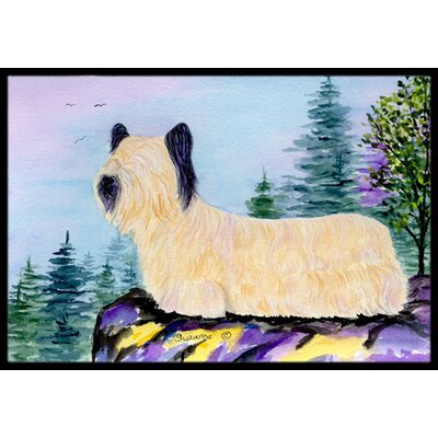 Skye Terrier Doormat Mat Size: Rectangle 16 x 2 3