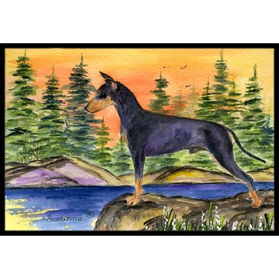 Manchester Terrier Doormat Rug Size: Rectangle 2 x 3