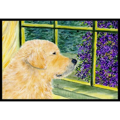 Golden Retriever Doormat Rug Size: Rectangle 2' x 3'