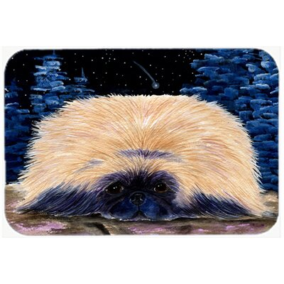 Starry Night Pekingese Kitchen/Bath Mat Size: 20 H x 30 W x 0.25 D