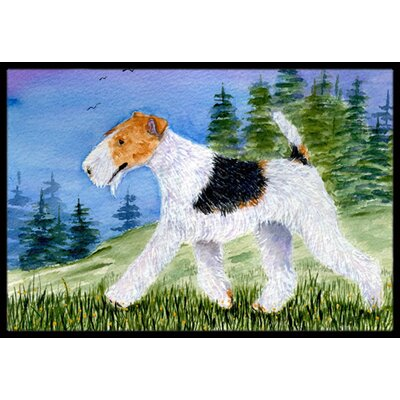Fox Terrier Doormat Mat Size: Rectangle 16 x 2 3