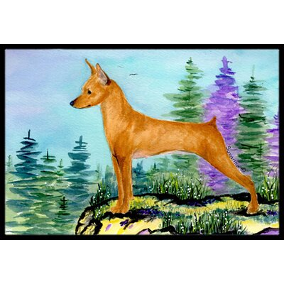 Min Pin Doormat Mat Size: Rectangle 16 x 2 3