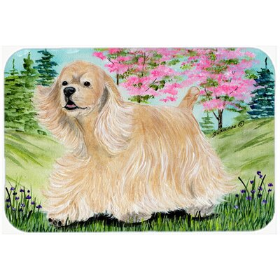 Cocker Spaniel Kitchen/Bath Mat Size: 24 H x 36 W x 0.25 D