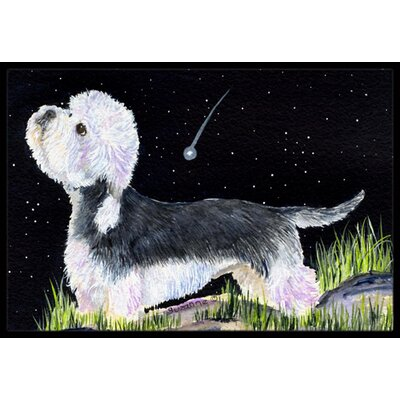 Starry Night Dandie Dinmont Terrier Doormat Mat Size: Rectangle 2 x 3