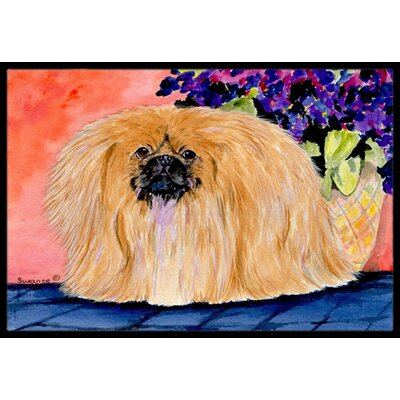 Pekingese Doormat Mat Size: Rectangle 2' x 3'