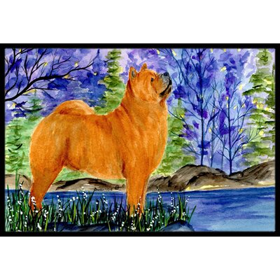 Chow Chow Doormat Mat Size: Rectangle 16 x 2 3