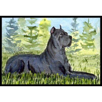 Cane Corso Doormat Mat Size: Rectangle 2 x 3