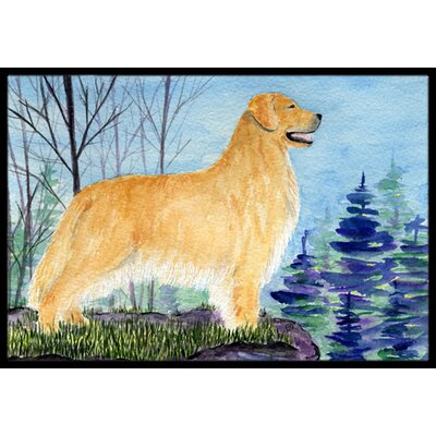 Golden Retriever Doormat Mat Size: Rectangle 2 x 3