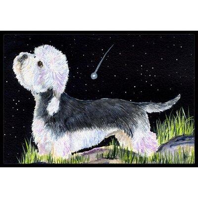 Starry Night Dandie Dinmont Terrier Doormat Rug Size: Rectangle 16 x 2 3