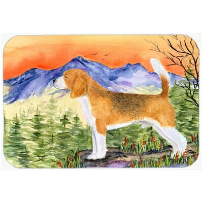 Beagle Kitchen/Bath Mat Size: 24 H x 36 W x 0.25 D