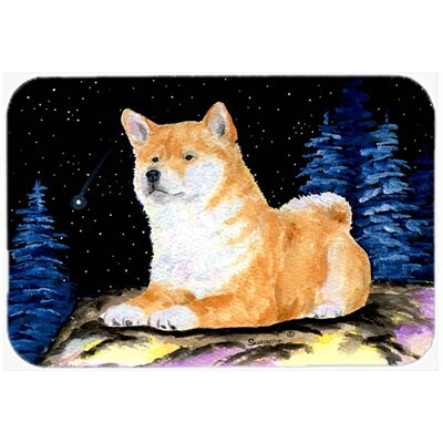 Starry Night Shiba Inu Kitchen/Bath Mat Size: 24 H x 36 W x 0.25 D