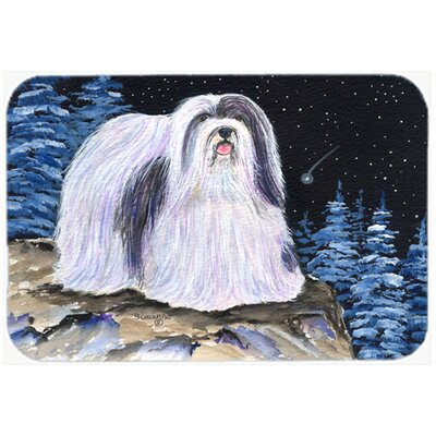Starry Night Havanese Kitchen/Bath Mat Size: 24 H x 36 W x 0.25 D