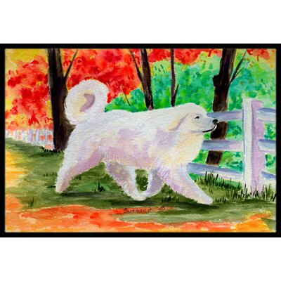 Great Pyrenees Doormat Mat Size: Rectangle 2 x 3