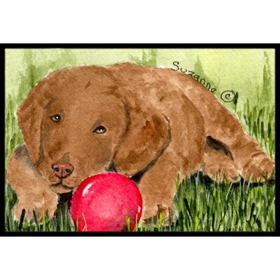 Curly Coated Retriever Doormat Rug Size: 16 x 2 3