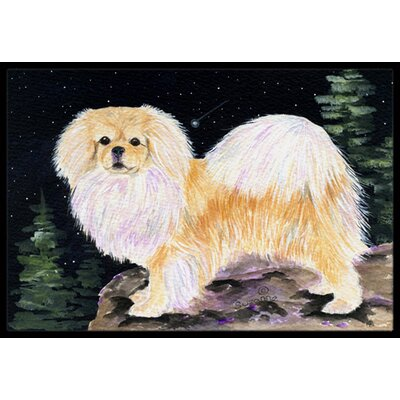 Starry Night Tibetan Spaniel Doormat Mat Size: Rectangle 2 x 3