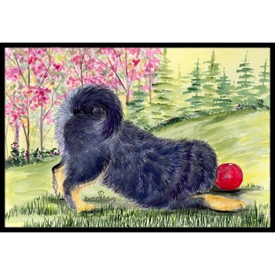 Tibetan Mastiff Doormat Mat Size: Rectangle 16 x 2 3