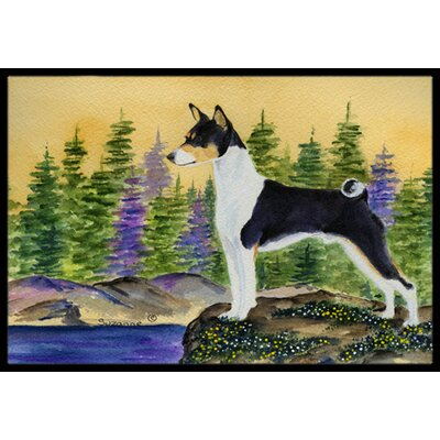 Basenji Doormat Mat Size: Rectangle 1'6