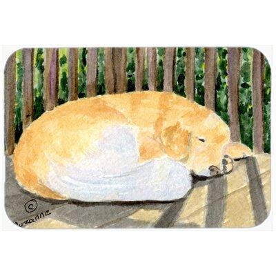 Golden Retriever Kitchen/Bath Mat Size: 24 H x 36 W x 0.25 D
