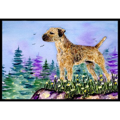 Border Terrier Doormat Mat Size: Rectangle 16 x 2 3