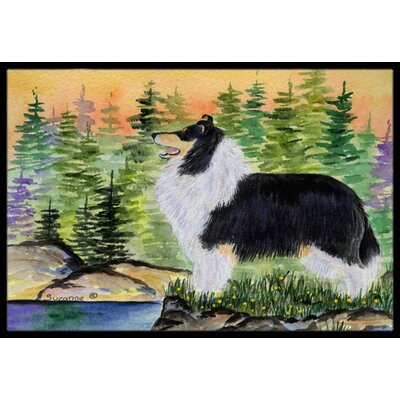 Collie Doormat Rug Size: 2 x 3