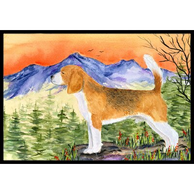 Beagle Doormat Mat Size: Rectangle 2 x 3
