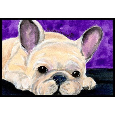 French Bulldog Doormat Rug Size: Rectangle 2 x 3