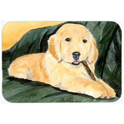 Golden Retriever Kitchen/Bath Mat Size: 24