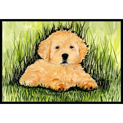 Golden Retriever Doormat Rug Size: 2 x 3